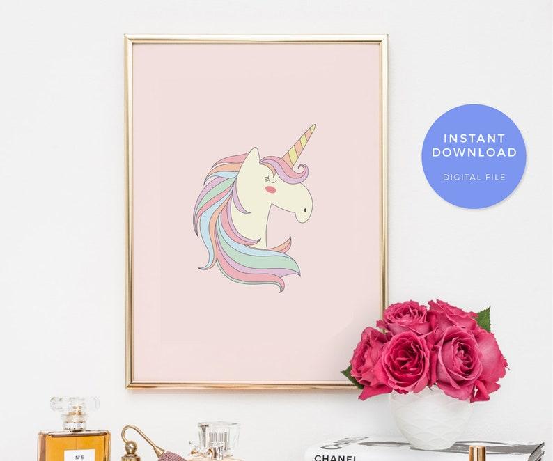 5136314af042 Unicorn print unicorn art print unicorn printable printable