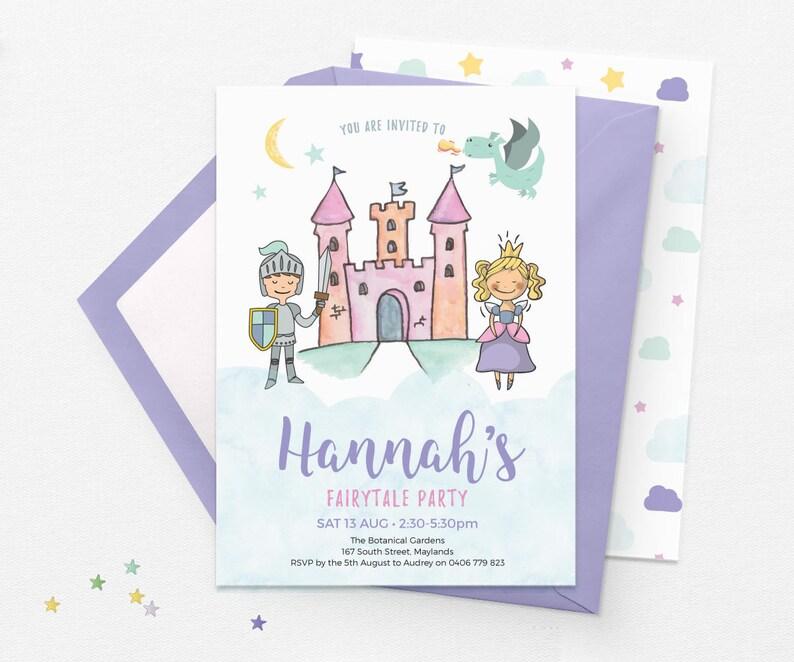 Prince And Princess Invitations Kids Birthday