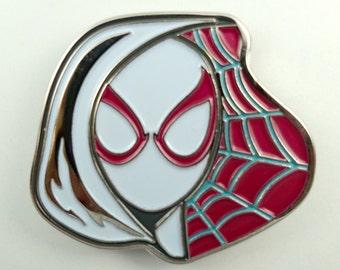 Spider-Gwen Fan Art Soft Enamel Hat & Lapel Pin (Spidergwen)