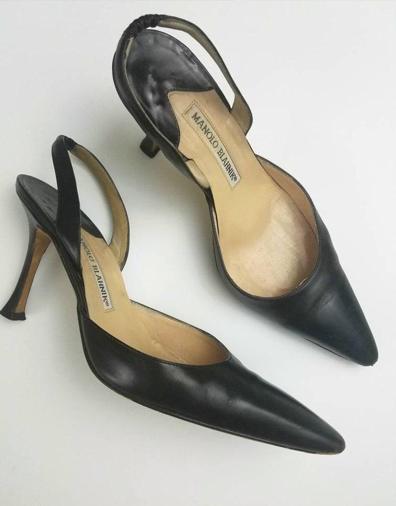 Manolo Blahnik Heels Vintage Manolos Vintage Black Heels