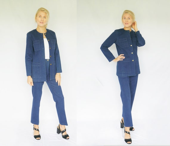 Vintage 1990's Adrienne Vittadini Pants Suit, Two-