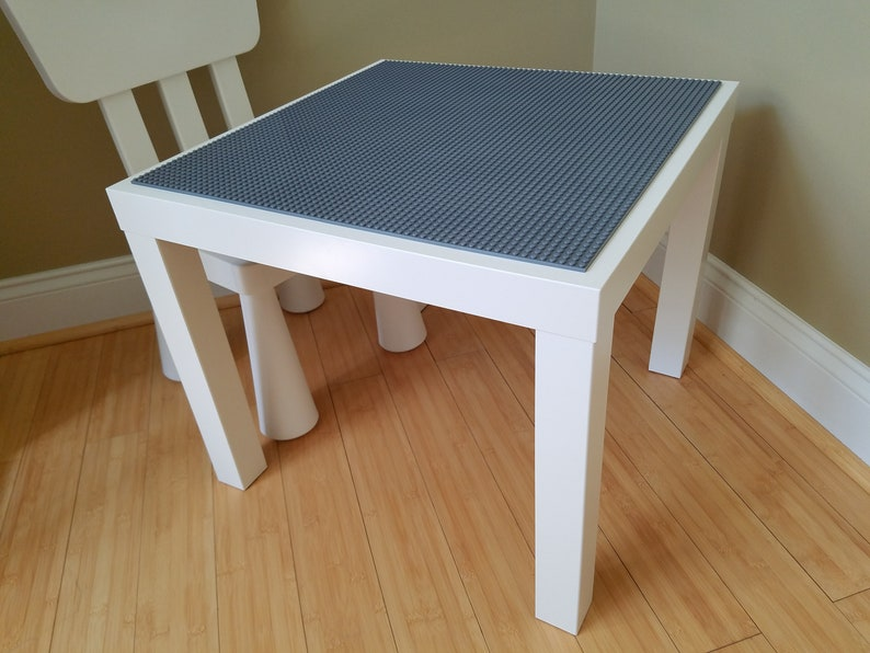 White Brick Building Table with Chair