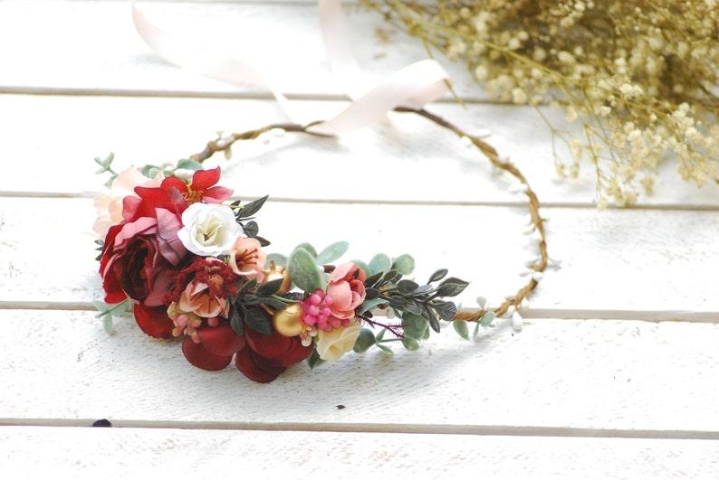 Boho Floral Hair Band Rose Flower Bride Crown Wreaths Wedding Party Decor New