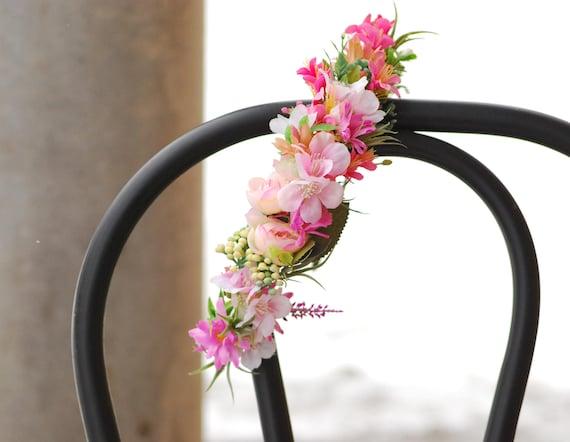 Suknie ślubne Kwiatowy Korona Kwiat Halo Kwiat Opaska Wesele Etsy