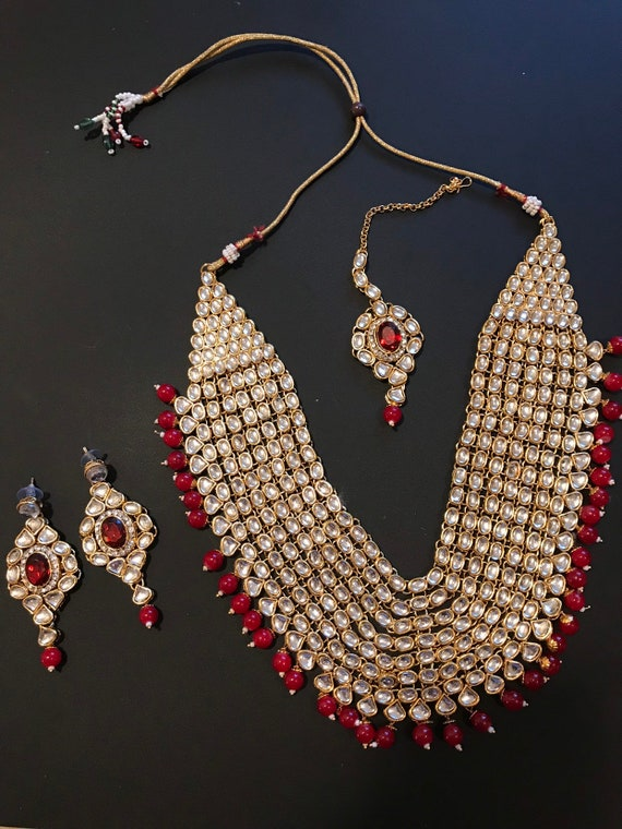 Indian Kundan Jewelry Set Bridal Jewelry Set Indian Wedding Etsy