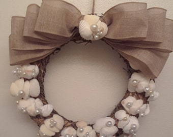 Ark Shells and Pearls Wreath