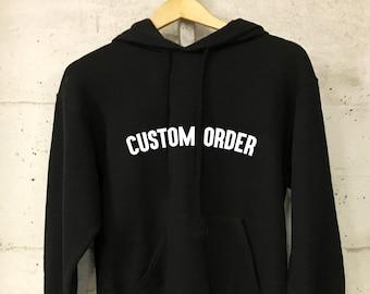 be684596 Unisex Custom Design Logo Black Hoodie XS- XXL - Personalised Hoodie -  Business Hoodie - Printed Hoodie - Custom Clothing - Printed Hoodie