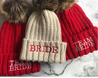 89ad86c5 Bride beanie | Etsy