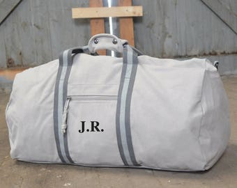 Personalised Weekend Bag - Gifts for Him  -  Bags for Men - Monogrammed Bag - Valentine's Day - Travel Bag Gift Idea - Gifts for Him - Grey