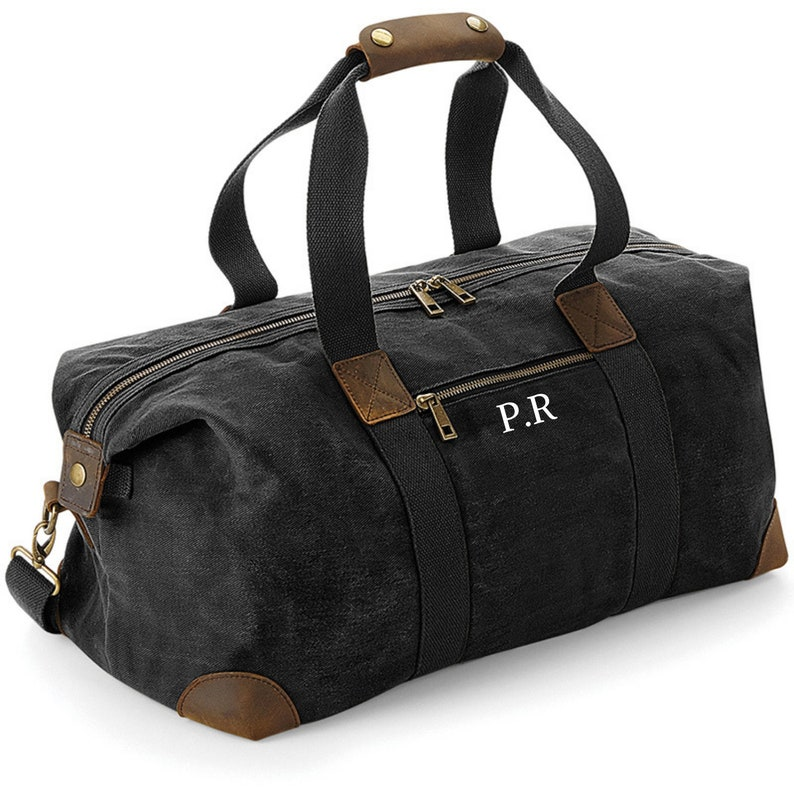 Personalised Bag Travel Bag Gift Idea Monogrammed Bag Waxed Bag Bags for Men Gifts for Him Weekend Bag Gifts for Him