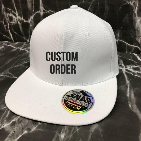 Custom Snapback Custom Cap Logo Cap No Minimum Order Trucker Hat Trucker Cap Baseball Cap Baseball Hat Personalised Hat