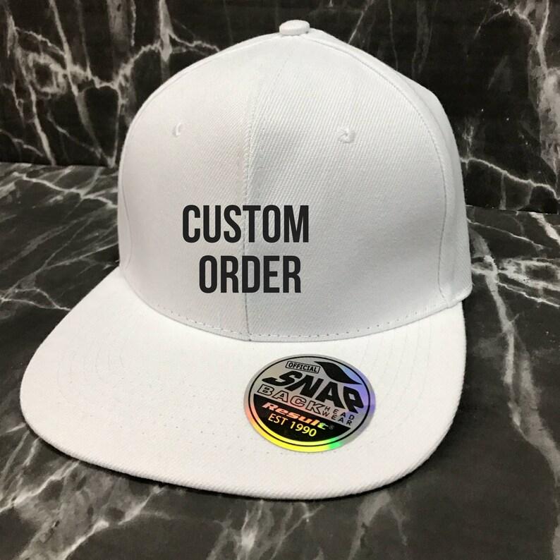 775f644ea Custom SnapBack - Custom Cap - Logo Cap - No Minimum Order - Trucker Hat -  Trucker Cap - Baseball Cap - Baseball Hat - Personalised Hat
