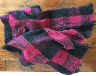 Authentic Vintage 50's Hudson's Bay 100% Mohair Throw