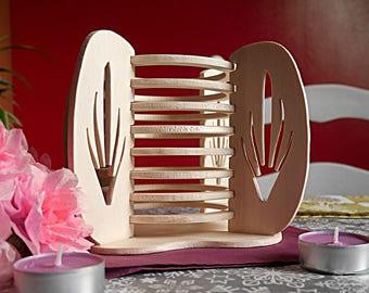 Wood type basket decoration