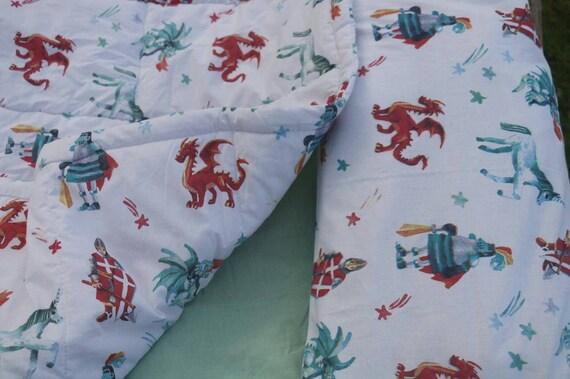 Chambre De Bebe Dragon Literie Chevalier Berceau Set Etsy