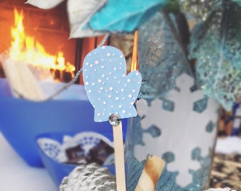 Hot cocoa bar,stirrers,hot cocoa, hot chocolate bar, hot cocoa, winter wonderland,baby its cold outside,mittens