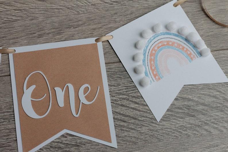 boho rainbow first birthday boho high chair banner rainbow baby banner one high chair banner neutral rainbow boho rainbow banner