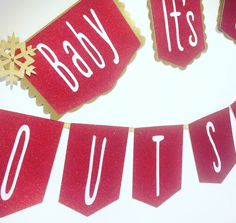 Baby its cold outside banner fall baby shower winter baby shower winter onederland baby shower decoration boy baby shower decoration