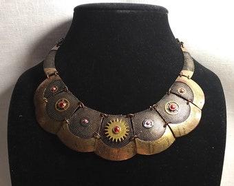 Time Petals Steampunk Necklace