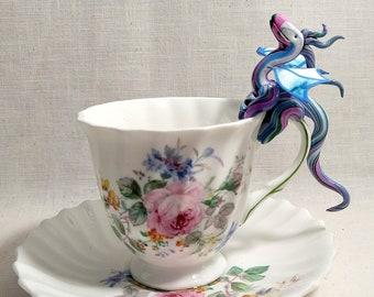 Lazy Daisy Steampunk Teacup Dragon Sculpture