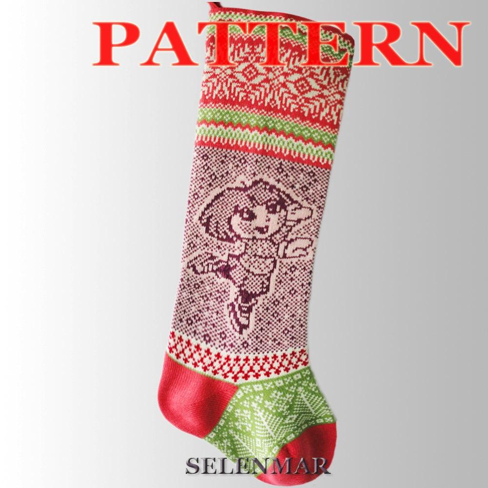 Knitting Instruction for Christmas Stockings.Pattern Socks   Etsy