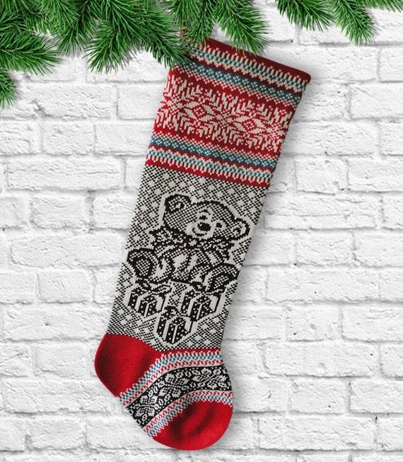 Punto de peluche de las medias de Navidad con Regalo Navidad