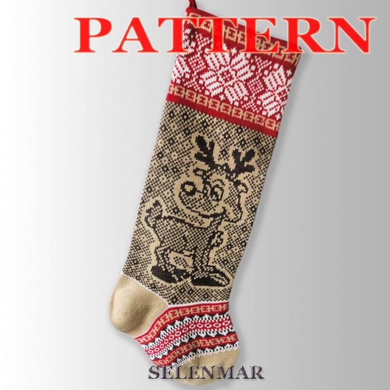 3f38bb4f9 Scandinavian Christmas stocking  Christmas Reindeer  Fair Isle