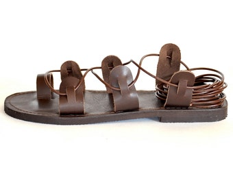 f26bd33f2f41c3 Spartan leather lace up Sandals