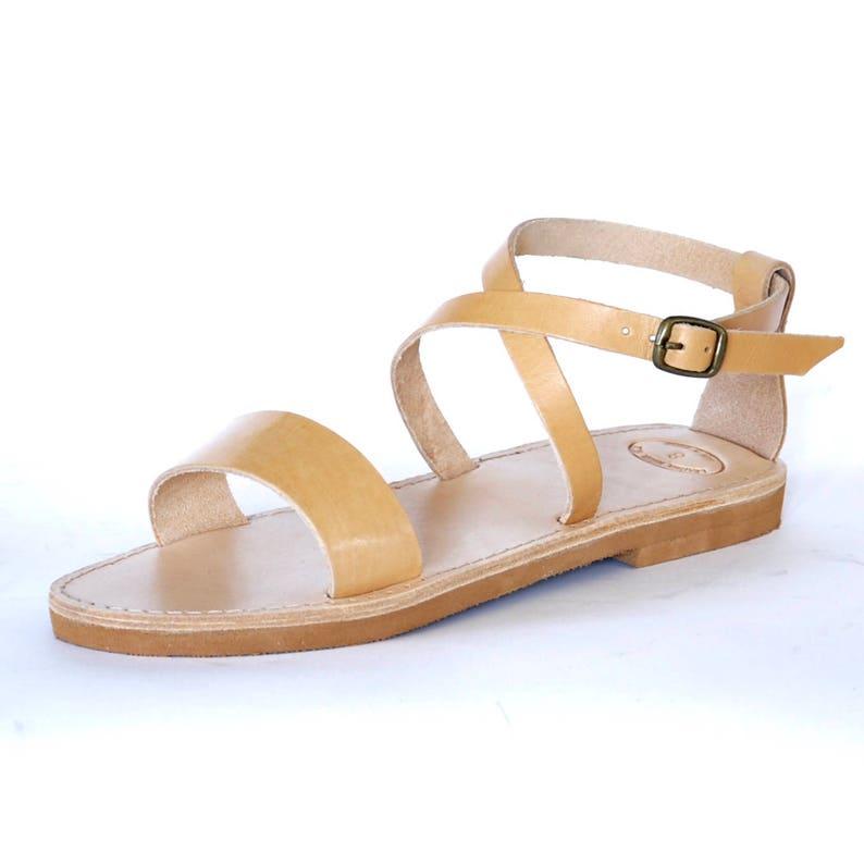 b2469de877abca Greek leather Sandals Women Men handmade ankle wrap sandals