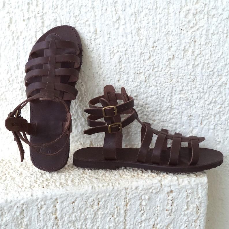 f7544ad0cfe6 Greek Gladiator Spartan Sandals Women Men handmade strappy