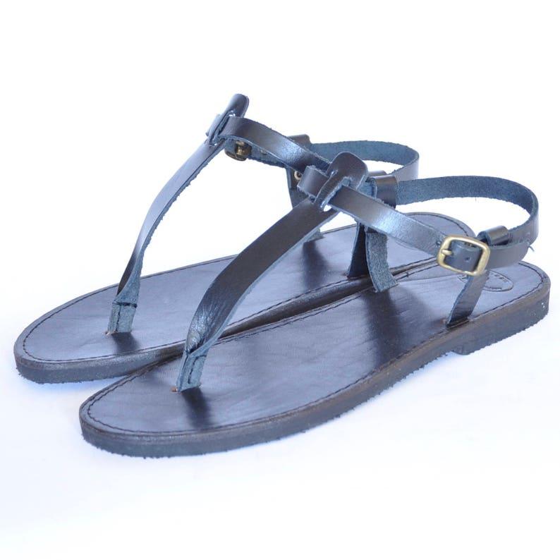 Greek leather Sandals Women Men handmade T-strap sandals