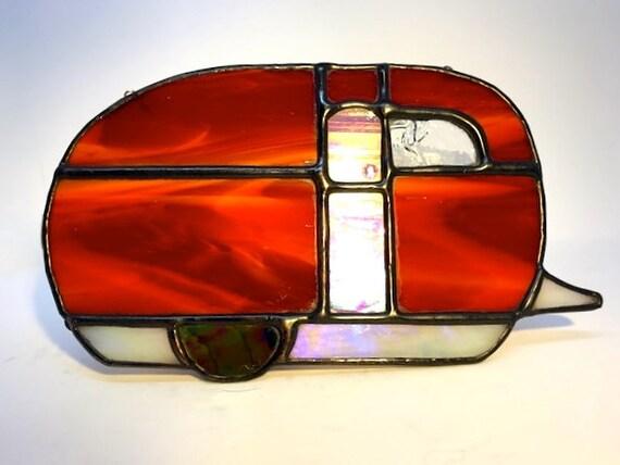 Caravan of Love Handmade Stained Glass Vintage Caravan, Hippie, Retro Gift, RV Decoration
