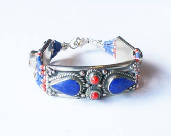 Tibetan Nepalese Turquoise Blue Bracelet / Boho jewelry / Tribal Jewellery / Ethnic Jewellery / Gypsy bracelet *VARIOUS COLOURS AVAILABLE*