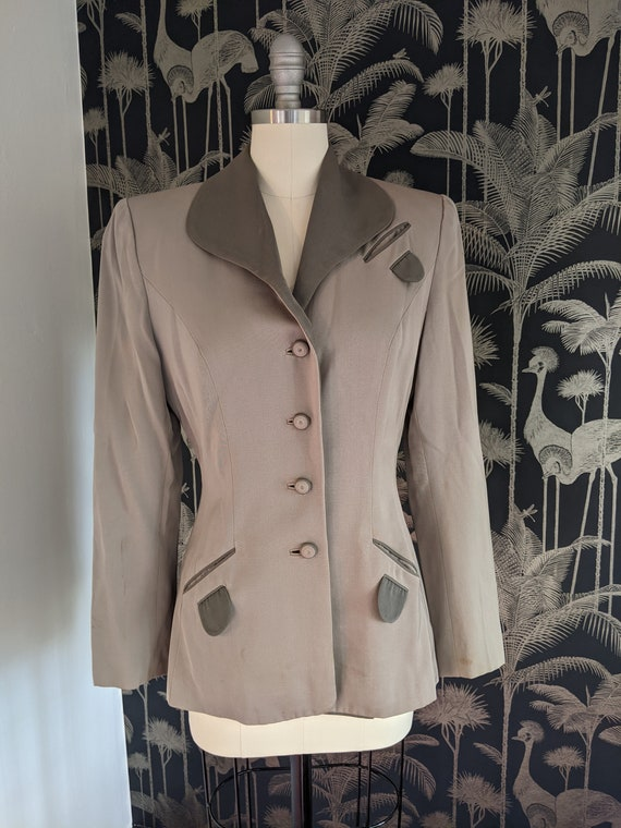 1940's Woman's Gray Suit Jacket