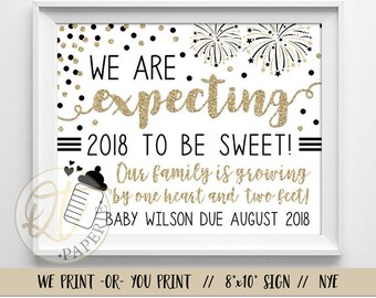 Pregnancy Announcement New Years Etsy