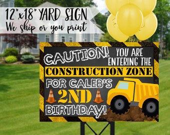 Construction Birthday Yard Sign, Construction Birthday Sign, Construction Sign, Construction Party, Construction Welcome Sign
