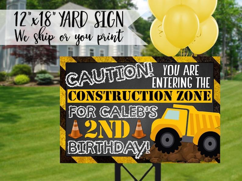Construction Birthday Yard Sign