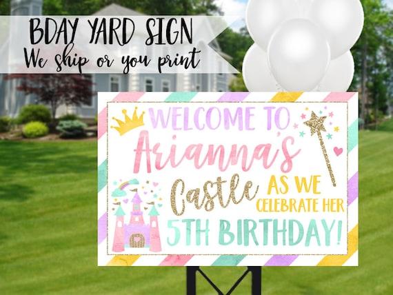 Princess Birthday Sign Yard