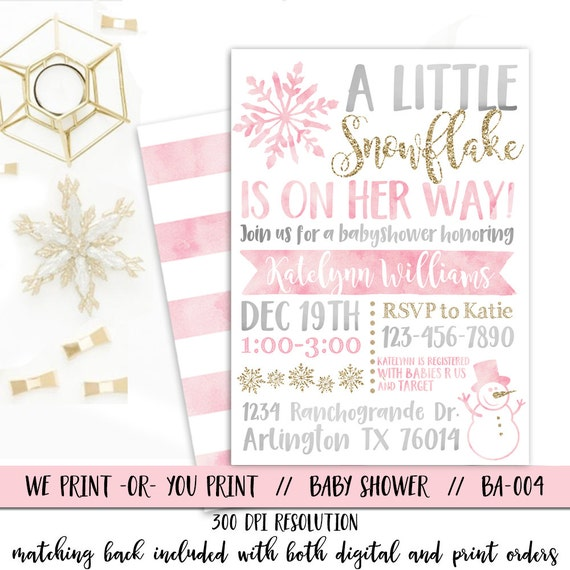 winter baby shower invitations