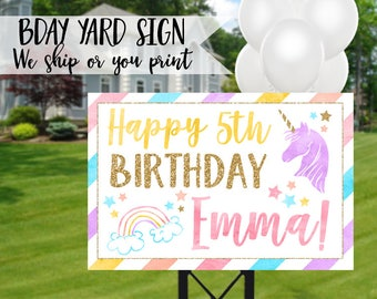 Unicorn Party Sign, Unicorn Birthday Sign, Unicorn Sign, Unicorn Welcome Sign, Rainbow Sign, Magical Birthday Sign, Rainbow Birthday Sign