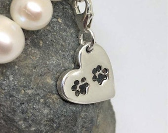 Silver Moon Charm Dog Cat Pet or Horse Jewelry Also Fits Sabo Style Jewelry SB-Cele02