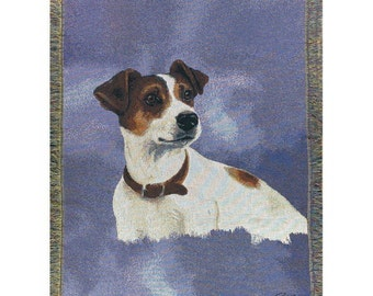 Personalized Jack Russell Dog Throw Blanket