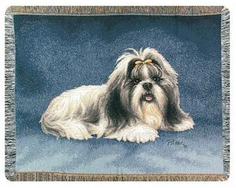 Personalized Shih Tzu Dog Throw Blanket