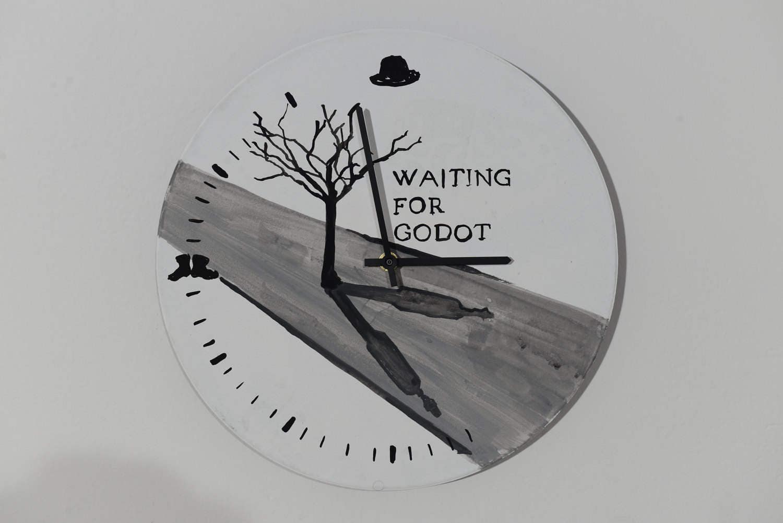Waiting For Godot Samuel Beckett Wall Clock Painting Etsy