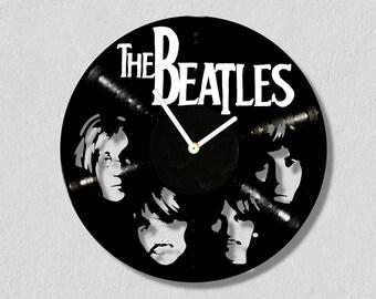 The Beatles, vinyl clock,gift for women, gift for men, wall clock large, modern, vintage, gift ideas