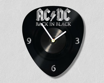 ACDC Painting, ACDC Decor, ACDC Design, Vinyl Record Wall Clock, Custom Gift, Wall Art