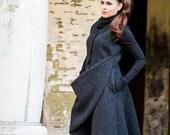 Winter Vest, Wool Vest, Black Vest, Coat Vest, Plus Size Clothing, Gothic Vest, Long Vest, Maxi Vest, Wool Clothing, Fashion Wool Vest