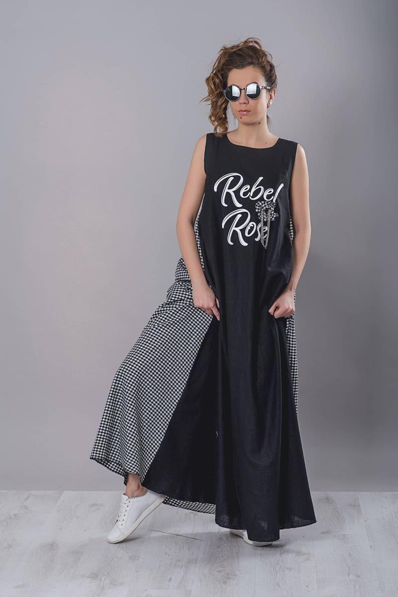 0fa1c845583 Black Dress Kaftan Dress Plus Size Maxi Dress Long Summer