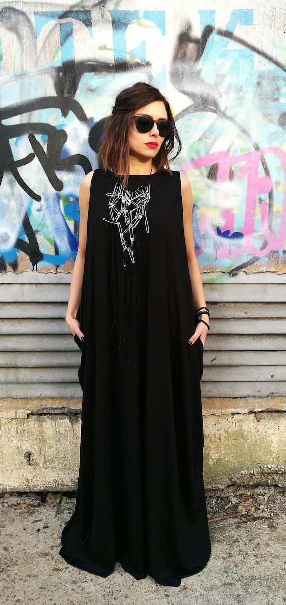 Plus Size Maxi Dress, Maxi Dress, Plus Size Dress, Trendy Plus Size  Clothing, Black And White Dress, Avant Garde Clothing, Stripe Dress