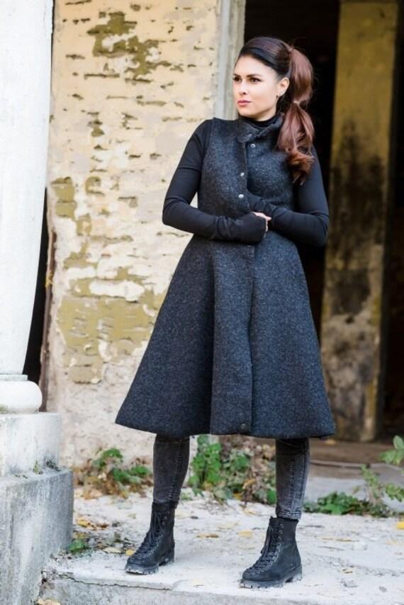 Nero donna maglia Gilet asimmetrico Plus Size gilet di  33c0fb5acef